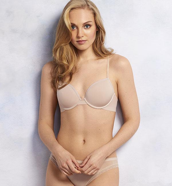 On Gossamer Sheer Bliss demi spacer bra as featured on Lingerie Briefs