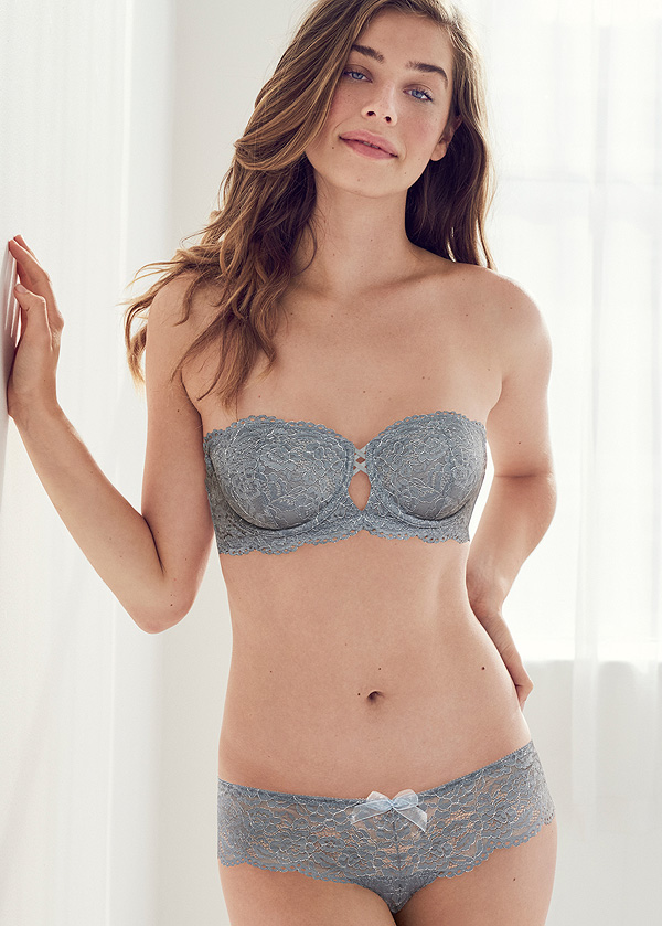 b.tempt's Ciao Bella Collection now in new Flint Stone color - featured on Lingerie Briefs
