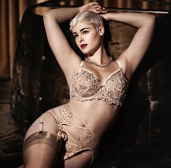 Dita Von Teese Bridal Lingerie as featured on Lingerie Briefs