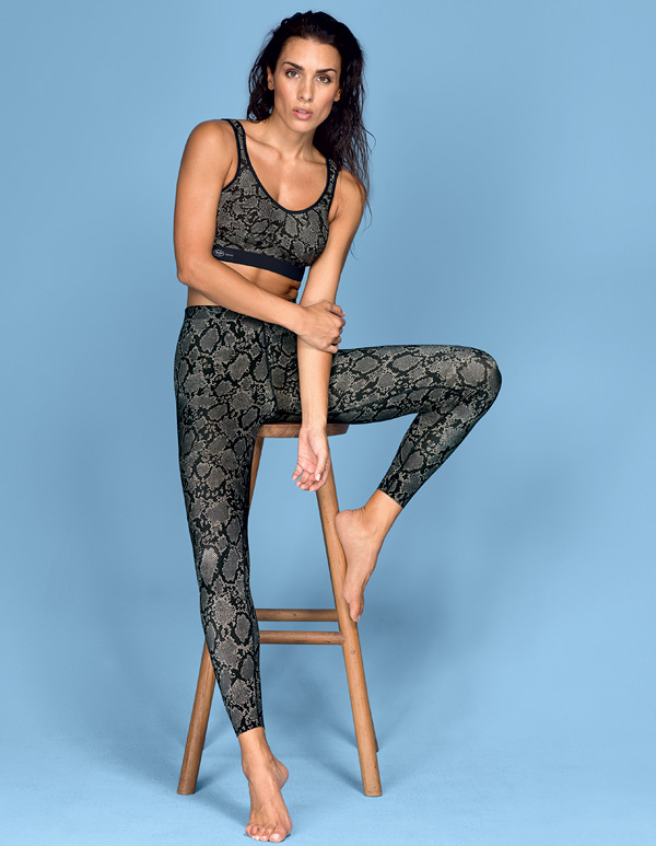 Anita Active Extreme Control Sports Bra & Massaging Sport Tights now in python snake print - featured on Lingerie Briefs