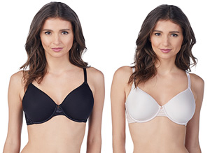 Le Mystere's Light Luxury Spacer Bra is available in black and shell.