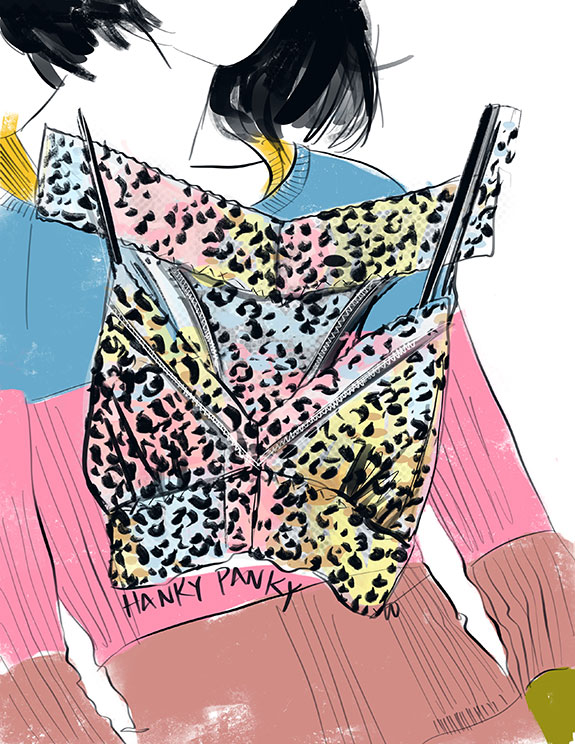 Hanky Panky lingerie as illustrated by Tina Wilson for Lingerie Briefs