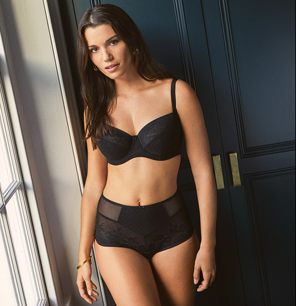 Panache Olivia Collection now in core black featured on Lingerie Briefs