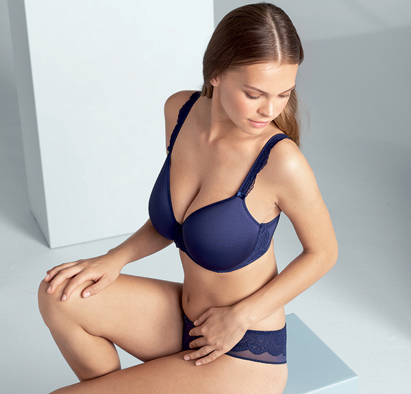 Selma Spacer Underwire Bra in Patriot Blue featured on Lingerie Briefs