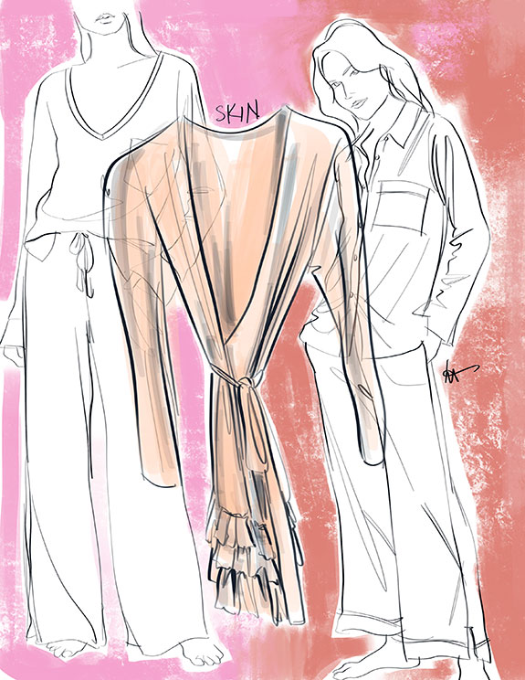 Skin lingerie as illustrated by Tina Wilson for Lingerie Briefs