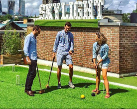 croquet on rooftop London