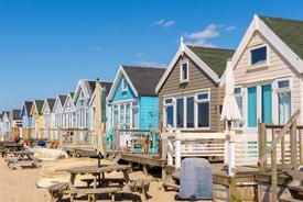 luxury beach huts at Sandbanks in Dorset