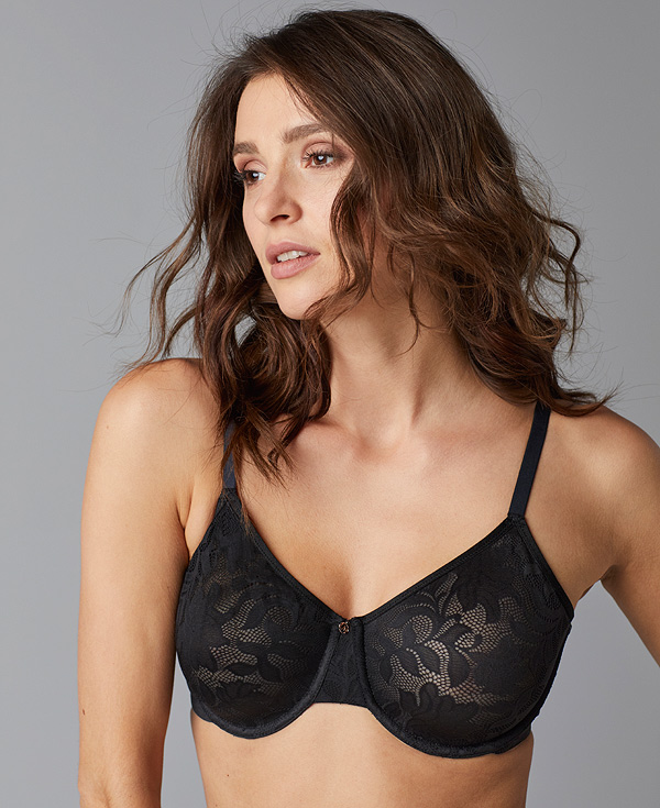 new from Le Mystere - Lace Comfort Unlined Bra as featured on Lingerie Briefs