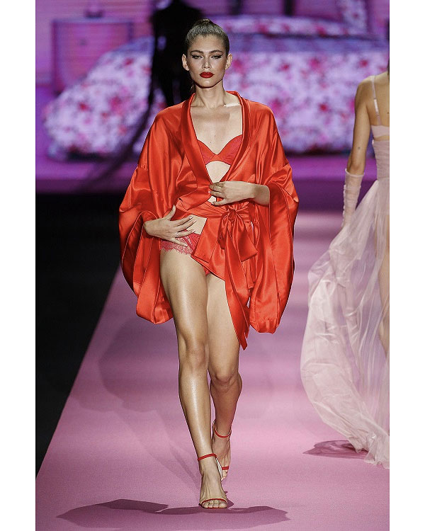 Andres Sarda Semi annual fashion runway show featuring intimate apparel as featured on Lingerie Briefs