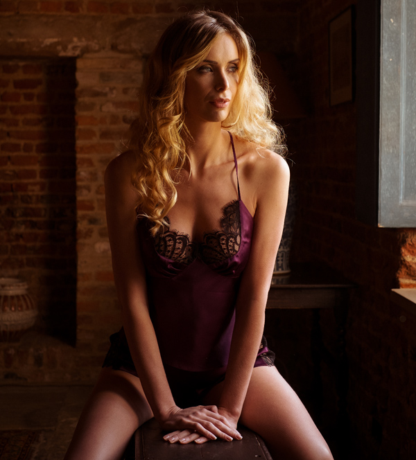 Emma Harris' Renee Blackberry Camisole and Shorts featured on Lingerie Briefs