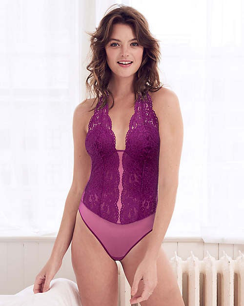 b.tempt'd Ciao Bella Bodysuit now in magenta purple, featured on Lingerie Briefs