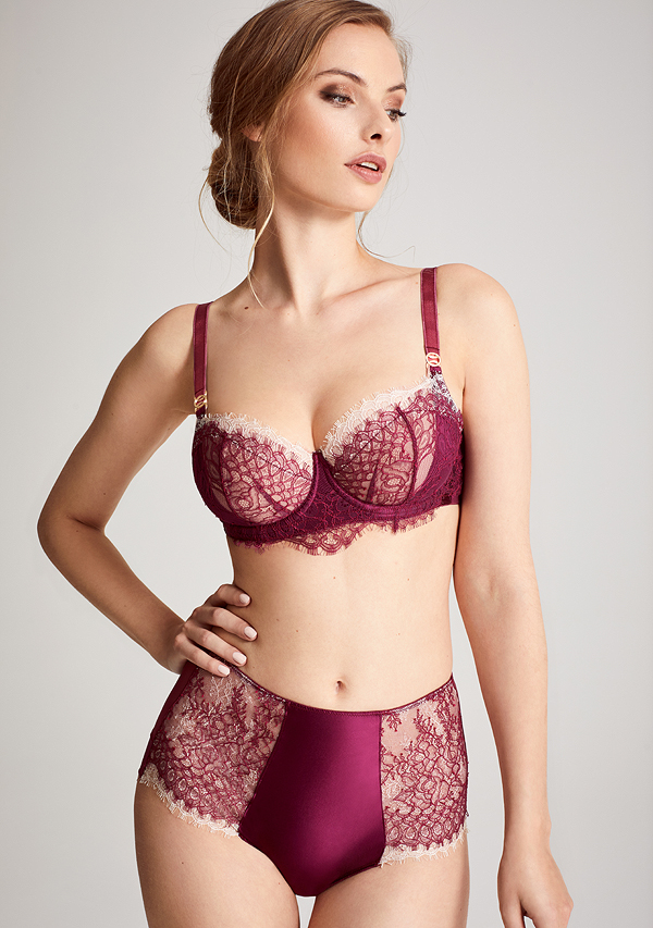 Katherine Hamilton Mariella collection in boysenberry - featured on Lingerie Briefs