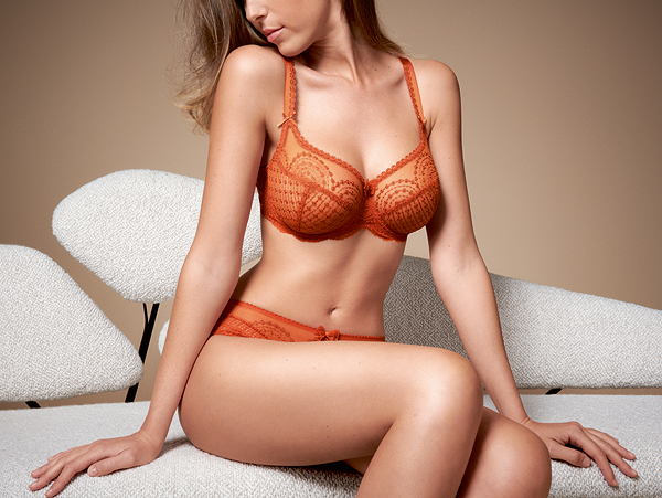 Empreinte Norah bra in Orange cuivré featured on Lingerie Briefs