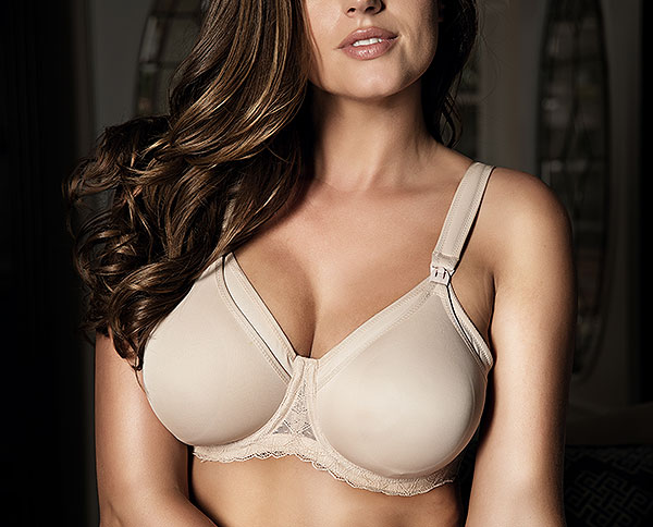 Lelia Maternity nursing bra from 32-44, D-H cups from Parfait Lingerie in Bare color as featured on Lingerie Briefs