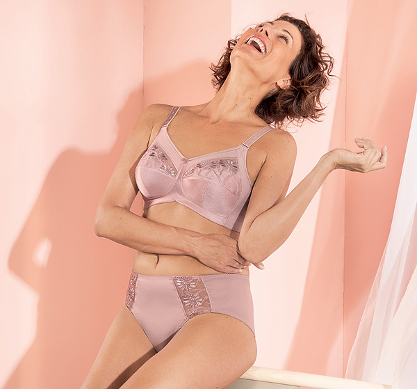 Anita's SAFINA - Wire-free Comfort Bra now in Mellow Rose as featured on Lingerie Briefs