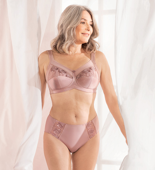Anita Care SAFINA Mastectomy Bra now in Mellow Rose as featured on Lingerie Briefs