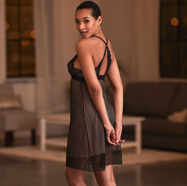 Montelle Midnight Romance Triangle Chemise featured on Lingerie Briefs