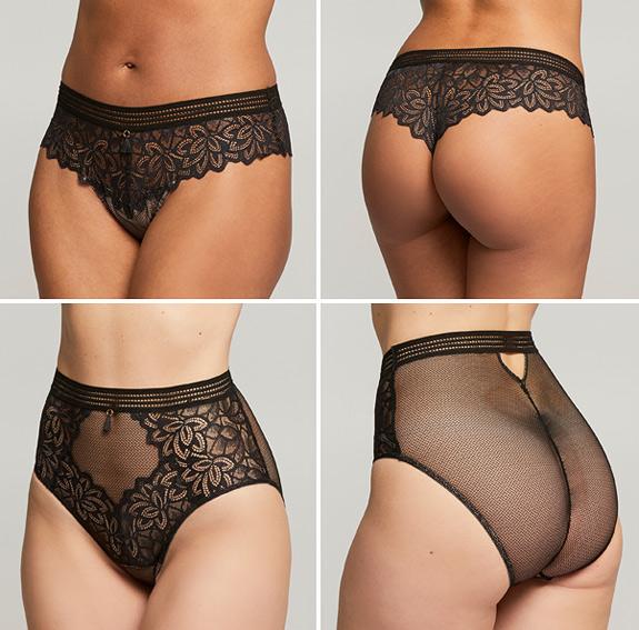 Montelle Midnight Romance Cheekini and High Waist Panty featured on Lingerie Briefs