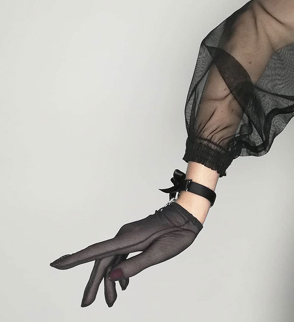 Luxury Arm Lingerie Gloves by C'est Jeanne as featured on Lingerie Briefs