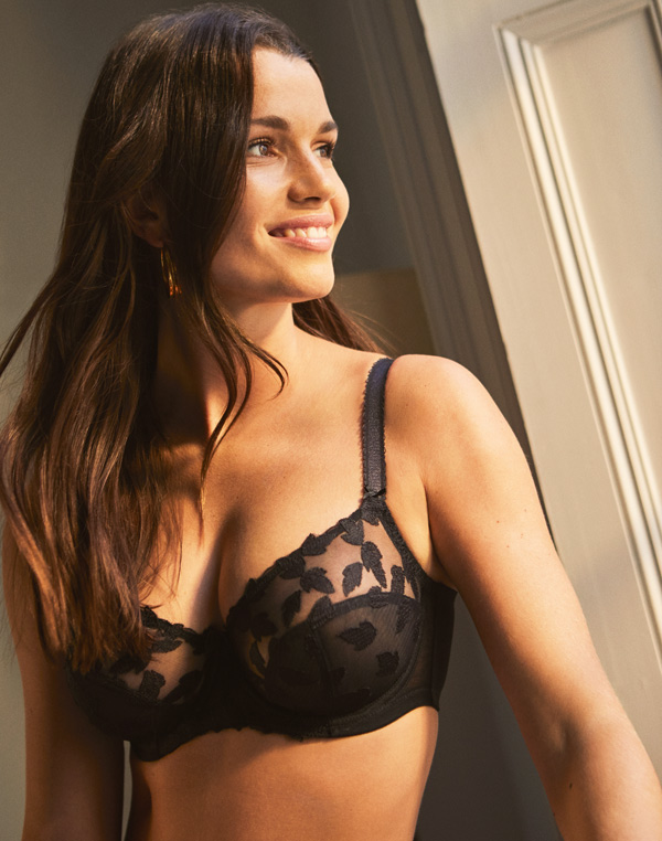 Panache Corrine balconette features the updated look of tango featured on Lingerie Briefs