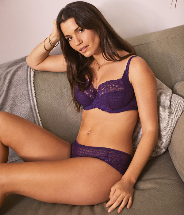 Panache classic, Envy returns in a pigmented purple - featured on Lingerie Briefs