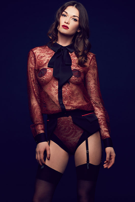 Tatu Couture indie designer lingerie- Melania collection featured on Lingerie Briefs