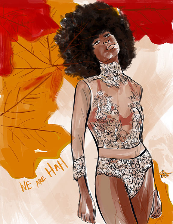 We Are Hah sustainable lingerie illustrated by Tina Wilson as featured on Lingerie Briefs