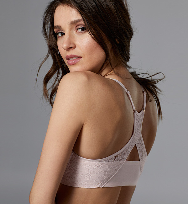 Natural Comfort Racerback bra from Le Myster is subtly sexy & supportive - featured on Lingerie Briefs