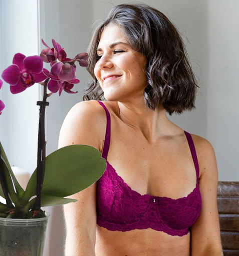 Flirt Demi Bra in dark orchid - featured on Lingerie Briefs