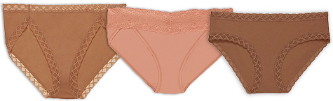 Natori Bliss French Cut Panty, Bliss Perfection One-Size V-Kini and Natori Bliss Girl Brief