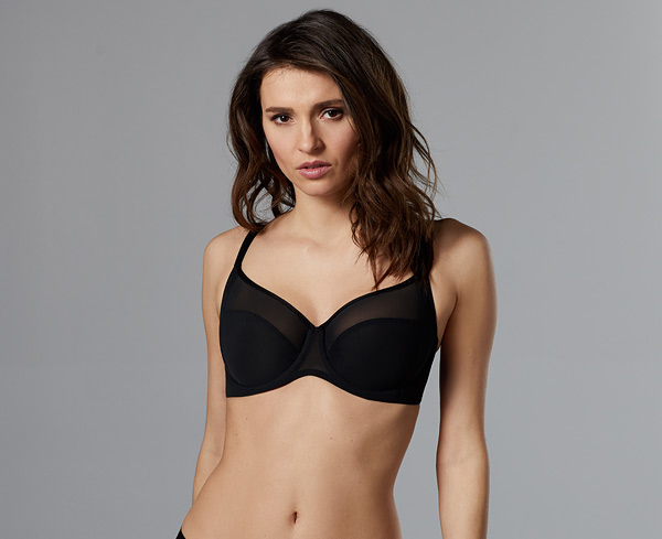 Le Mystere's Modern Mesh Full Fit Cut & Sew Bra featured on Lingerie Briefs
