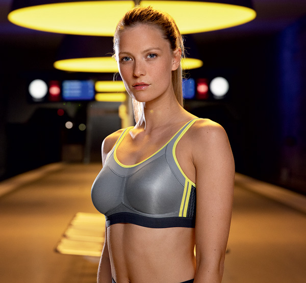 Anita Active Momentum 5529 sports bra will be available SS20 in the cool iconic grey - featured on Lingerie Briefs