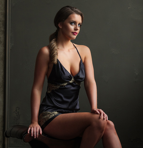 Emma Harris - Cleo – the latest addition to the Collection in timeless black and gold featured on Lingerie Briefs