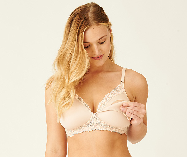 Wacoal's new Wire Free Nursing Bra featured on Lingerie Briefs