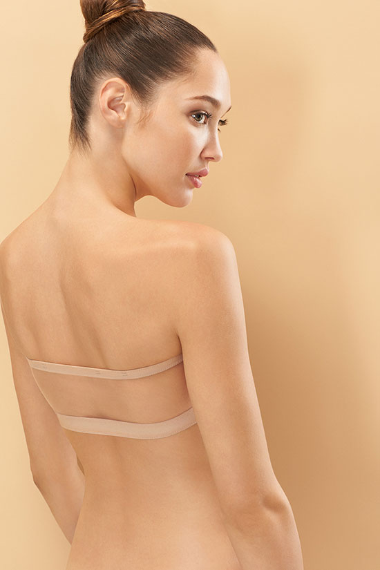Natori Affair bandeau with sheer mesh back as featured on Lingerie Briefs