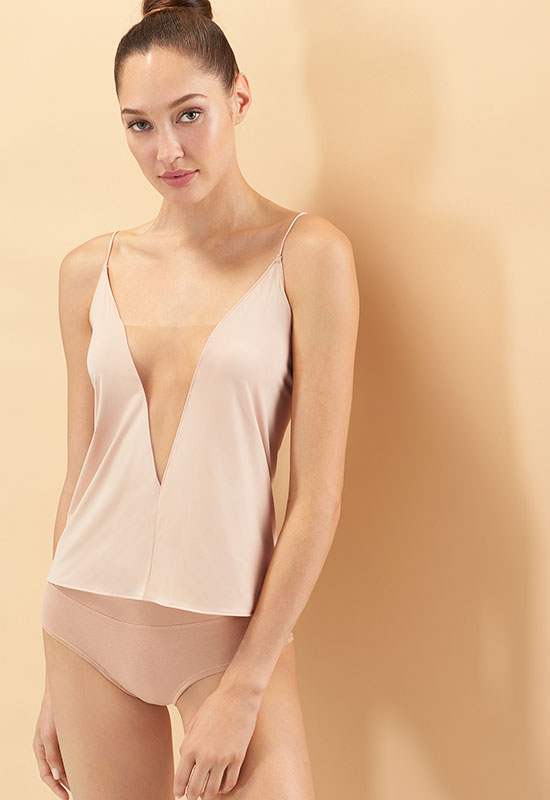 Natori Affair Cami with Sheer mesh details as featured on Lingerie Briefs