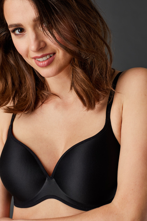 Le Mystere Clean Lines T-Shirt Bra streamlined with a modern minimalistic aesthetic. Featured on Lingerie Briefs