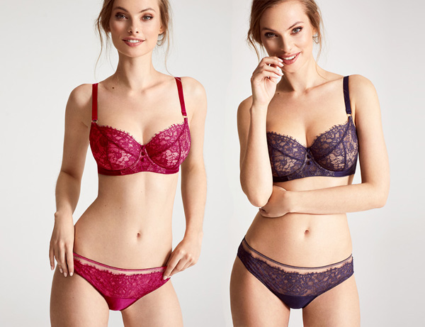 Katherine Hamilton Abbie Collection in Ruby and purple featured on Lingerie Briefs