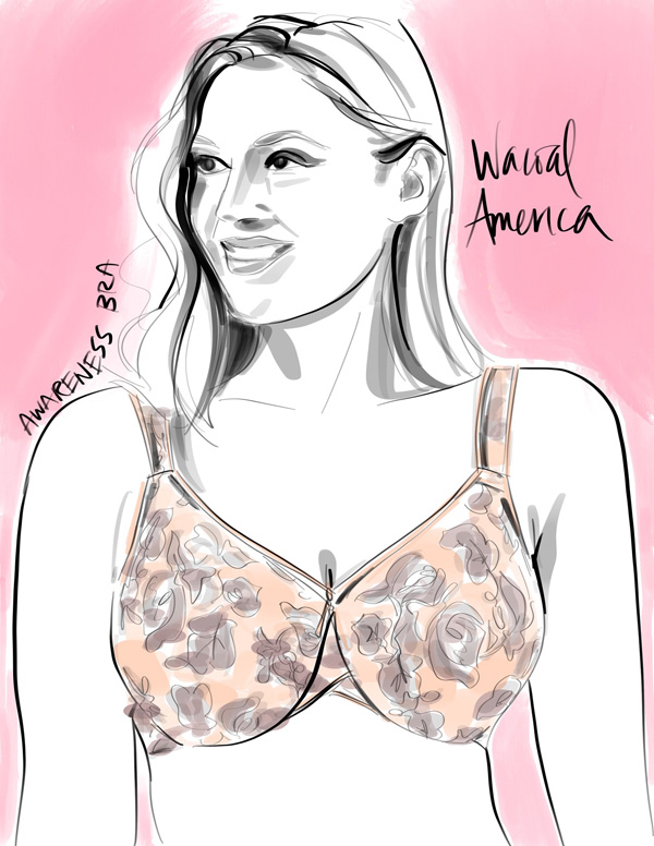 Illustration of Wacoal's Awareness Bra by Tina Wilson on Lingerie Briefs