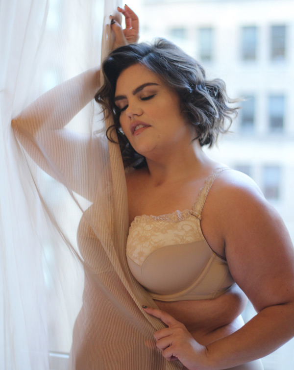 "Curvy Couture ""Tulip Push Up Bra Has It All. It gives me the lift, is pretty and is comfortable. Featured on Lingerie Briefs"