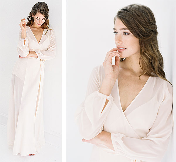 With A Serious Dream bridal robe as featured on Lingerie Briefs