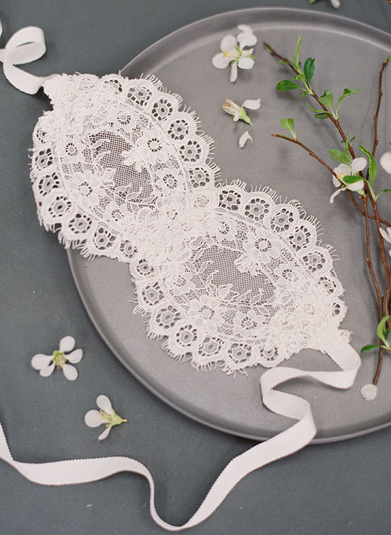With A Serious Dream bridal accessories (mask) as featured on Lingerie Briefs