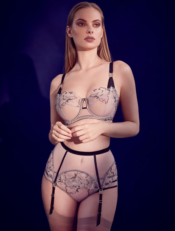 Katherine Hamilton's AW20 Priya Floral Bra is the epitome of standout design. Featured on Lingerie Briefs