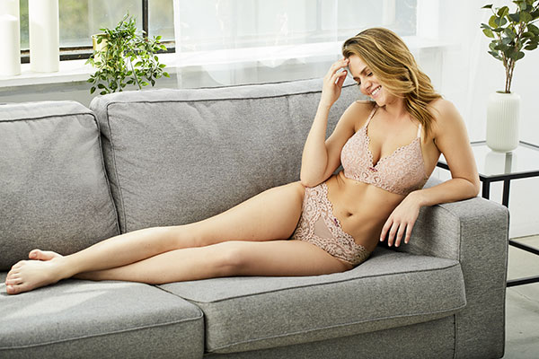 Montelle Intimates Bloom wirefree bra and briefs as featured on Lingerie Briefs