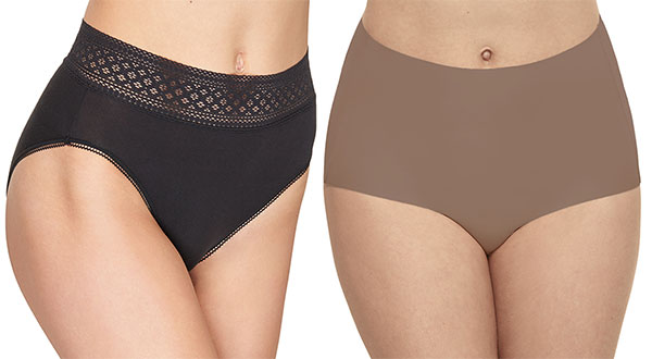 Wacoal Subtle Beauty and Flawless Comfort Panties as featured on Lingerie Briefs