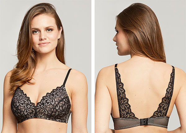 Montelle Intimates Midnight Romance Wire-free bra as featured on Lingerie Briefs
