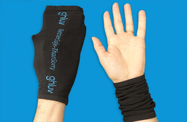Guluv anti-viral hand protectors using special coronavirus protection treatment as featured on Lingerie Briefs
