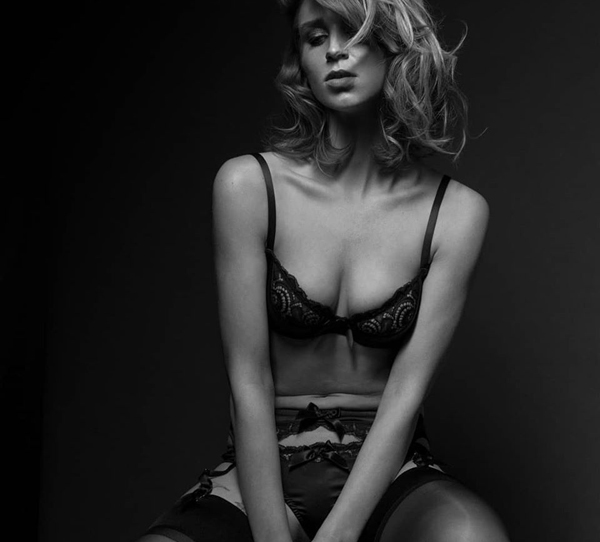 Emma Harris luxury lingerie - Signature Navy collection featured on Lingerie Briefs
