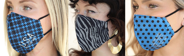 PJ Harlow Face Masks - Prints with inspiring sayings - featured on Lingerie Briefs