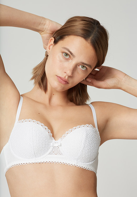 Maison Lejaby Joli Coton demi bra as featured on Lingerie Briefs